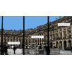 Atelier Contemporain Place Vendome by Philippe Matine Graphic Art Wrapped on Canvas