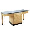 Diversified Woodcrafts 4 Station Science Table With Storage Cabinet and Drawers