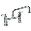 Whitehaus Collection Laundry Double Handle Utility Bridge Faucet with Swivel Spout