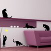Cats with a Butterfly Wall Decal