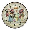 Obique Wanduhr Garden Flowers and Welcome 34 cm