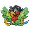 Obique Wanduhr Papagei