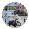 Obique Provencal and Plums 34cm Wall Clock