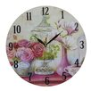 Obique Roses and Magnolias 34cm Wall Clock