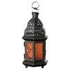 Bungalow Rose Wes Sunset Iron and Glass Lantern
