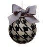 Pied-A-Poule Glass Ball Christmas Ornament