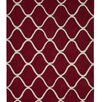 Think Rugs Elements Hand-Woven Red Area Rug