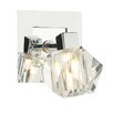 Dar Lighting Geo 1 Light Semi-Flush Armed Sconce