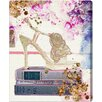 Oliver Gal Gold Shoe Art Print Wrapped on Canvas