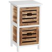 All Home Portsmouth 2 Drawer Bedside Table