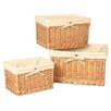 House Additions 3 Piece Willow Storage Basket Set