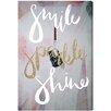 """Oliver Gal Leinwandbild """"Smile Sparkle Shine"""" von Runway Avenue, Grafikdruck"""