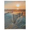 Beachcrest Home Sunrise Over Hatteras by Steve Ainsworth Photo Graphic Print on Canvas