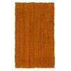 Jute&Co Handgewebter Teppich in Terrakotta