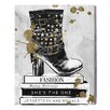 Oliver Gal Boots on Book by Runway Avenue Graphic Art Wrapped on Canvas