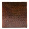 "Premier Copper Products 6"" x 6"" Hammered Copper Tile in Oil Rubbed Bronze (Set of 8)"