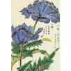 Magnolia Box Honzo Zufu [Blue Flower] by Kan'en Iwasaki Framed Art Print