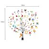 Walplus Children's Nursery Alphabet, Animal and Tree Wall Sticker