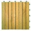 "Vifah Plantation Acacia 11"" x 11"" Interlocking Deck Tiles"