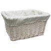 CandiGifts Wicker Storage Basket with Linen Lining