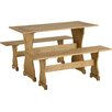 Andover Mills Corona Dining Set with 2 Benches