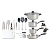 Gibson 30 Piece Stainless Steel Cookware Combo Set