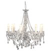 House Additions Crystallic 9 Light Crystal Chandelier