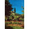 Buyenlarge 'Garden in Bloom at Saint-Adresse' by Claude Monet Painting Print