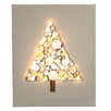 Illuminated Canvas Wooden Tree Embossed Art and Relief Graphic Art on Canvas