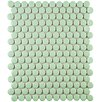 "Retro Penny Round 0.75"" x 0.75"" Porcelain Mosaic Tile in Matte Light Green"