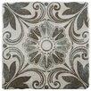 "EliteTile Diego 7.75"" x 7.75"" Ceramic Patterned/Field Tile in Matte Gray/Brown"