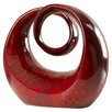 World Menagerie Abstract Decorative Red Table Top Sculpture