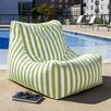 Ponce Outdoor Striped Patio Lounge Chair