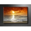 Urban Designs 'Beach Sea' Framed Photographic Print on Wrapped Canvas