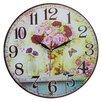 Obique 34cm Flower Vase Wall Clock