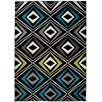 Home & Haus Jawa Black Area Rug