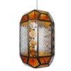 Loxton Lighting Patterned Glass 1 Light Moroccan Lantern Pendant