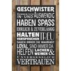Factory4Home 2-tlg. Schild-Set BD-Geschwister, Typographische Kunst in Schwarz