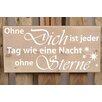 Factory4Home 2-tlg. Schild-Set BD-Ohne Dich, Typographische Kunst