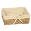 Wicker Valley Rectangular Lined Seagrass Basket