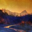 Marmont Hill Sunset Saguaros Stream' Art Print Wrapped on Canvas