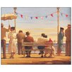House Additions 'The Pier' by Vettriano Art Print Plaque