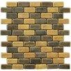 "EliteTile Greenwich Brick 0.75"" x 2"" Ceramic Mosaic Floor and Wall Tile in Cimarron Brown"