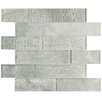 "EliteTile Nieve 11.625"" x 11.75"" Panel Glass Mosaic Tile in Ash"