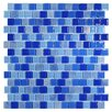 "Kellani Tides 0.75"" x 0.75"" Glass Mosaic Tile in Cornflower"