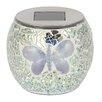 Majestique Solar Mosaic Butterfly 1 Light Tabletop Lantern