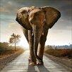 Pro-Art Elephant Painting Print Glass Art