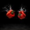 Pro-Art Glasbild Modern Vegetable II, Kunstdruck
