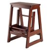 2-Step Wood Step Stool with 200 lb. Load Capacity