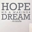 Cut It Out Wall Stickers Aristotle Hope Is Walking Dream Wall Sticker